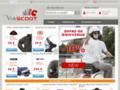 Casque scooter, tablier et manchon